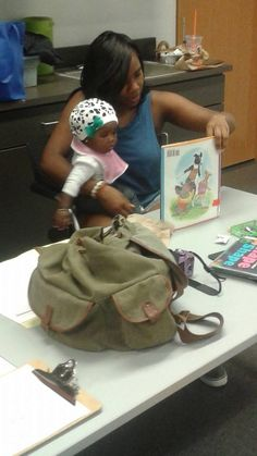 @ GH BPL getting some reading in during the diaper pick ups.