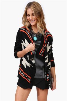 Multi-color Aztec print Cardigan