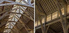 Una tradicional estructura de roble que recuerda a las catedrales góticas de Gran Bretaña|Espacios en madera