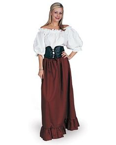 Women's Renaissance Peasant Lady Costume | Womens Renaissance Halloween Costumes