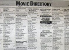 Newspaper Movie Listings