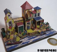 PAPERMAU: The Ephemeral Museum - A Pier In Panama - A French Vintage Paper Model - by Imageries Reunie Jarville-Nancy - Assembled by Papermau