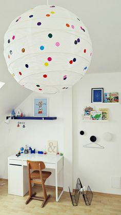 Dotty Lantern - simply add stickers to an IKEA shade!