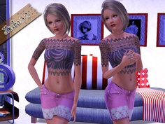 Lace Top and Skirt by Birba32  http://www.thesimsresource.com/downloads/1167428