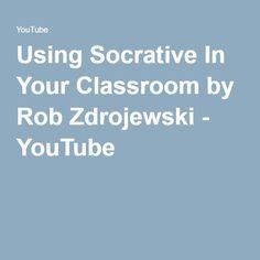 Using Socrative In Your Classroom by Rob Zdrojewski - YouTube