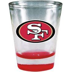 San Francisco 49ers 2oz Chrome Shot Glass - Sportsfan