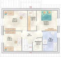 ART 154 - Pultdachhaus Grundriss - unser Musterhaus in Apensen im Kreis Stade