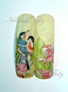 Nail aquarelle Animal Nail Designs, Ombre Nail Designs, Winter Nail Designs, Galeries D'art D'ongles, May Nails, Sculptured Nails, Nails First, New Nail Art, Nails Tumblr
