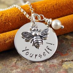 Personalized+Necklace++Hand+Stamped+Sterling+by+IntentionallyMe,+$43.00