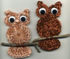 Bonitinhas as corujinhas em crochê.