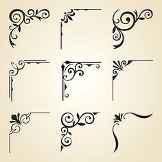 Canto decorativo molduras - ilustração de arte vetorial