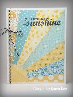 Karen's Creations  Love this card with the farmhouse line.