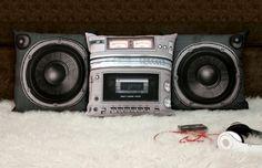 Boombox pillow set #home #decor #creative #ideas #blog