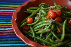 Bohnengemuese mit Tomaten