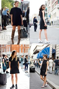 If You're Thinking About…….3 LBD , 1 LND « The Sartorialist - totally my style, i wish boots are suitable in SG climate thou.. its a waste not to have a pair!!