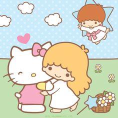 Sanrio Little twin stars, Sanrio, Hello kitty wallpaper