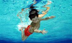 Pinzellades al món: Il·lustracions de Nina Nolte: jocs d'estiu a la piscina