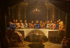 Last Supper - Phillipe de Champaigne -54 Paintings of the Passion, Death and Resurrection of Jesus Christ