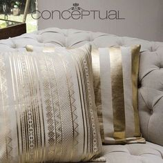 Furniture Covers, Home Decor Furniture, Home Furnishings, Gold Pillows, Velvet Pillows, Throw Pillows, Bridal Boutique Interior, Living Room Decor On A Budget, Transitional Living Rooms