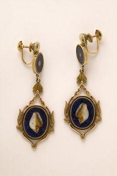 Naples, micromosaic earrings, 1808, part of a parure ownEd by Caroline Bonaparte Murat
