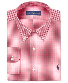Cut for a comfortable, relaxed fit, this gingham dress shirt from Polo  Ralph Lauren