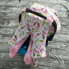 Feather Canopy Carseat Cover For Newborn Baby Girl