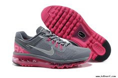 Online Womens Nike Air Max 2013 Grey Pink Shoes 555363-006