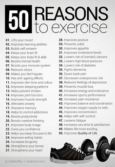 Reasons to workout!