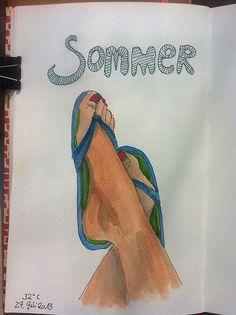 from my sketchbook: Summer feet