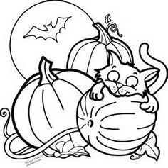 Halloween Inspiring Pumpkin Cat Coloring Pages Free Printable