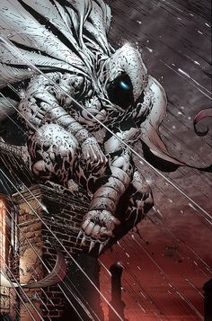 Moon Knight by David Finch [Marvel] Comic Book Artists, Comic Book Characters, Comic Book Heroes, Marvel Characters, Comic Artist, Comic Character, Comic Books Art, Marvel Comics Art, Marvel Heroes