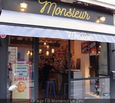 Monsieur Le Zinc Bar rue Monsieur le prince 75006