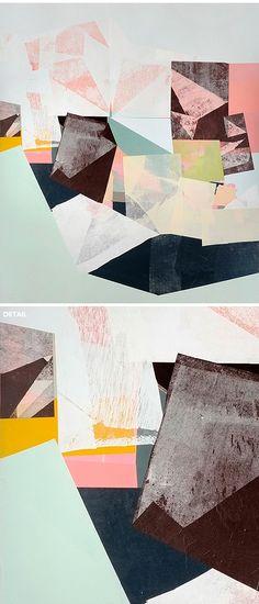 "Jessica Bell {NEW mixed media work - 50""x43""!}"