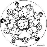 Fußball Mandala