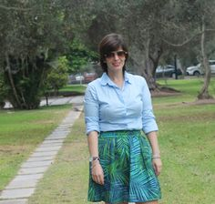 Divina Ejecutiva: Mis Looks - Verano Tropical #divinaejecutiva #officeattire #workinggirl #workinglook #tropicalskirt #bananarepublic #mango