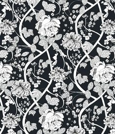 abigail borg wallpaper - love a bit of floral print Graphic Patterns, Textile Patterns, Textiles, Pretty Patterns, Flower Patterns, Monochrome Pattern, Pattern Recognition, Surface Pattern Design, Floral Prints