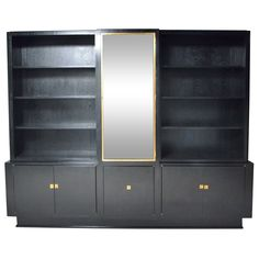Italian ebonized oak bookshelves