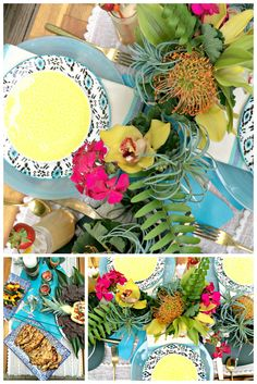 Make a Layered Tropical Centerpiece Perfect for Summer Parties >> http://blog.hgtv.com/design/2015/06/03/make-a-layered-tropical-centerpiece-perfect-for-summer-parties/?soc=pinterest