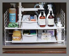 An under-the-sink organizer