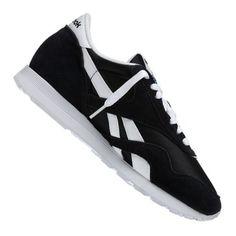 289b1837aea90 Reebok Classic Nylon Sneaker Damen Schwarz Weiss