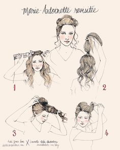 Tutorial :: Marie Antoinette Revisited | She Lets Her Hair Down