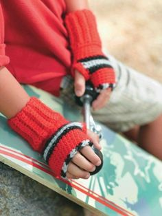 Fingerless Gloves  --  Crochet.  This is on Lion Brand Yarn.  You must sign up, but it's free ;)