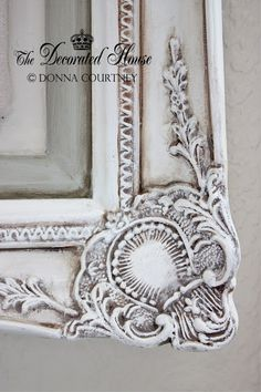 The Decorated House:~ Antiqued Old White Chalk Paint  With Paris Grey Accents