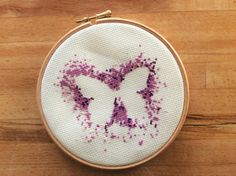 Modern Butterfly Cross Stitch Pattern / Download / Cross