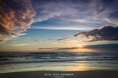 gulf storms beach sea oats blue sky ocean by photographybyVena, $30.00