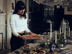 The food and decor had a recurring theme of winter citrus, greenery, berries and fragrant herbs