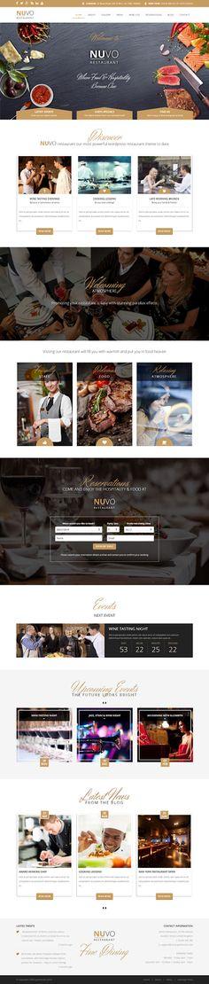 Perfect responsive WordPress theme for #restaurant, #cafe or #bistro website. #webdesign