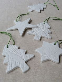Leaf-embossed air-drying clay tree decorations « Growing Spaces