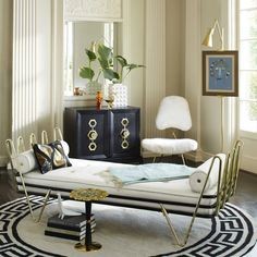 Maxime Daybed by Jonathan Adler  #interiordesigner #bestinteriordesigners #interiordesigninspiration home interior design, interior design ideas, interior decorating ideas Visit us at www.luxxu.net