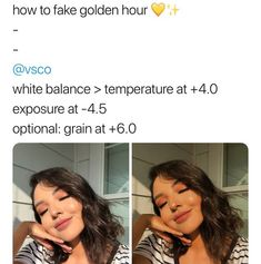 Vsco filters: how to fake golden hour! Photography Filters, Photography Editing, Photography Hacks, Photography Equipment, Artistic Photography, Exposure Photography, Photography Lighting, Photography Business, Photography Awards